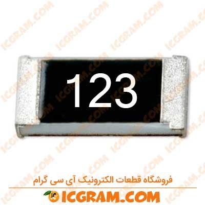 مقاومت 12 کیلو اهم 1206 با خطای 5 درصد
