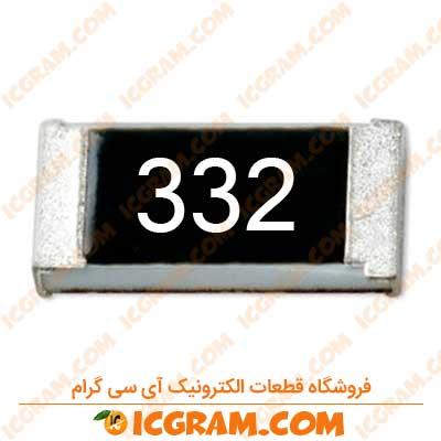 مقاومت 3.3 کیلو اهم 1206 با خطای 5 درصد