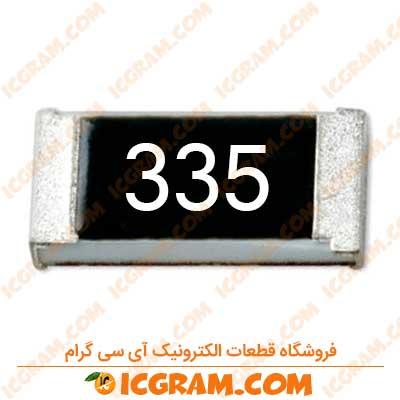 مقاومت 3.3 مگا اهم 1206 با خطای 5 درصد