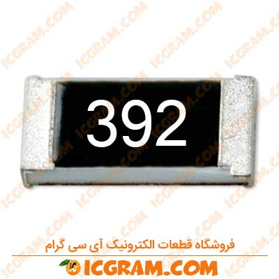 مقاومت 3.9 کیلو اهم 1206 با خطای 5 درصد