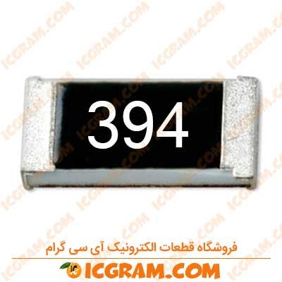 مقاومت 390 کیلو اهم 1206 با خطای 5 درصد