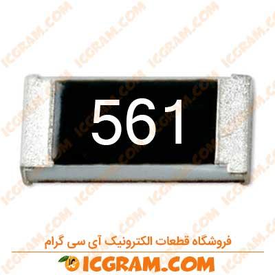 مقاومت 560 اهم 1206 با خطای 5 درصد