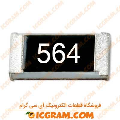 مقاومت 560 کیلو اهم 0603 با خطای 5 درصد