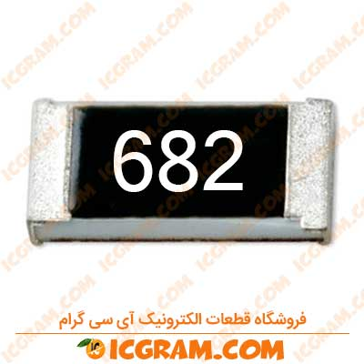 مقاومت 6.8 کیلو اهم 1206 با خطای 5 درصد