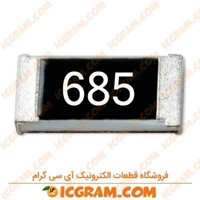 مقاومت 6.8 مگا اهم 1206 با خطای 5 درصد