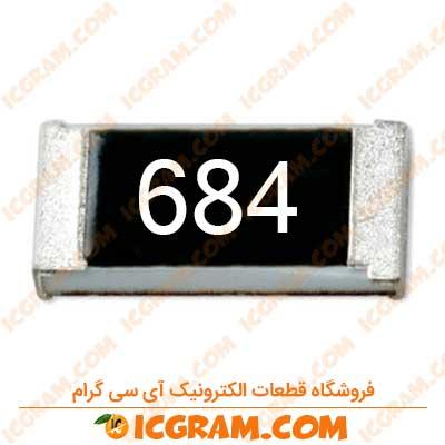 مقاومت 680 کیلو اهم 1206 با خطای 5 درصد
