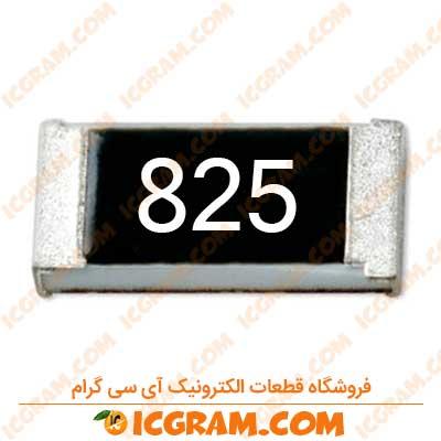 مقاومت 8.2 مگا اهم 1206 با خطای 5 درصد
