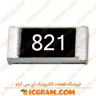 مقاومت 820 اهم 1206 با خطای 5 درصد