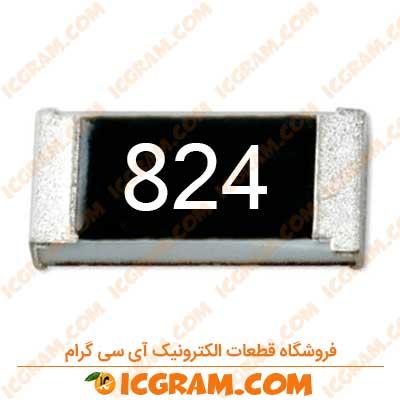 مقاومت 820 کیلو اهم 1206 با خطای 5 درصد