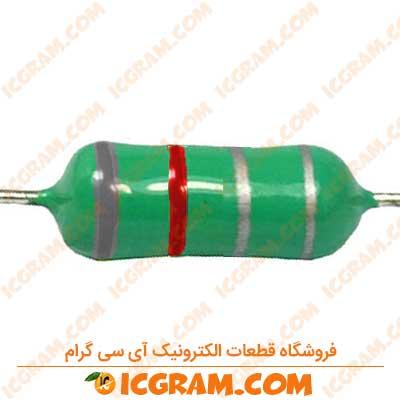 سلف مقاومتی 820 نانو هانری 1/4 وات