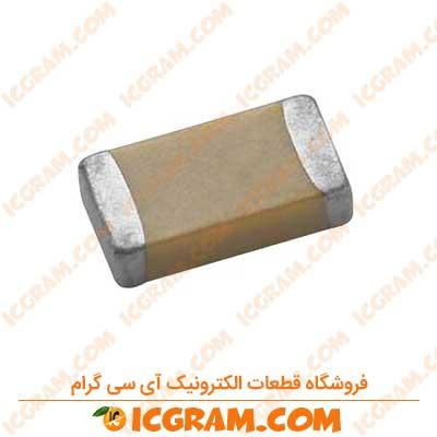 خازن مولتی لایر 10 میکرو فاراد 25 ولت SMD پکیج 1206
