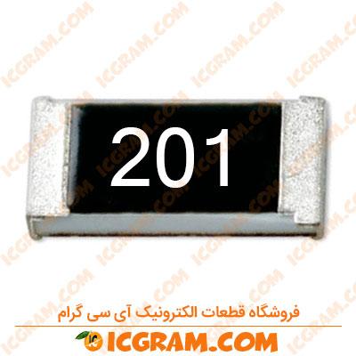 مقاومت 200 اهم 1206 با خطای 5 درصد