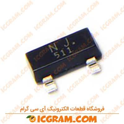 ترانزیستور 2N7002A پکیج SOT-23