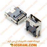 کانکتور USB مادگی رایت نوع Mini B پکیج SMD
