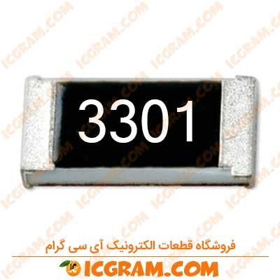 مقاومت 3.3 کیلو اهم 1206 با خطای 1 درصد