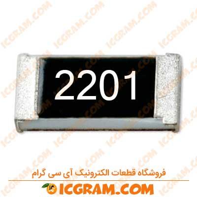 مقاومت 2.2 کیلو اهم 1206 با خطای 1 درصد